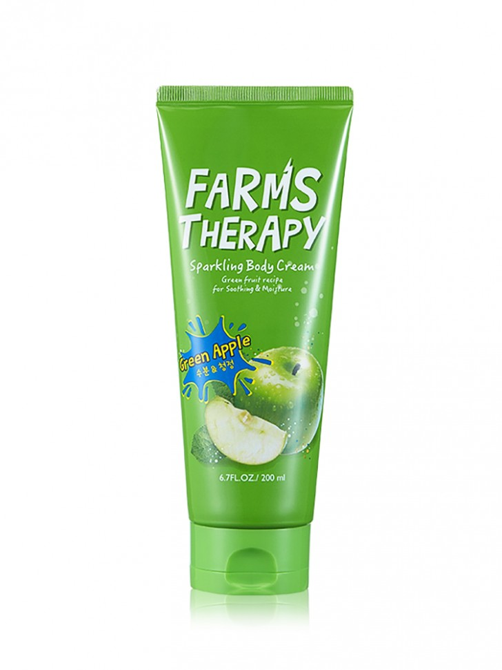 Крем для тела Farms Therapy Sparkling Body Cream Green Apple
