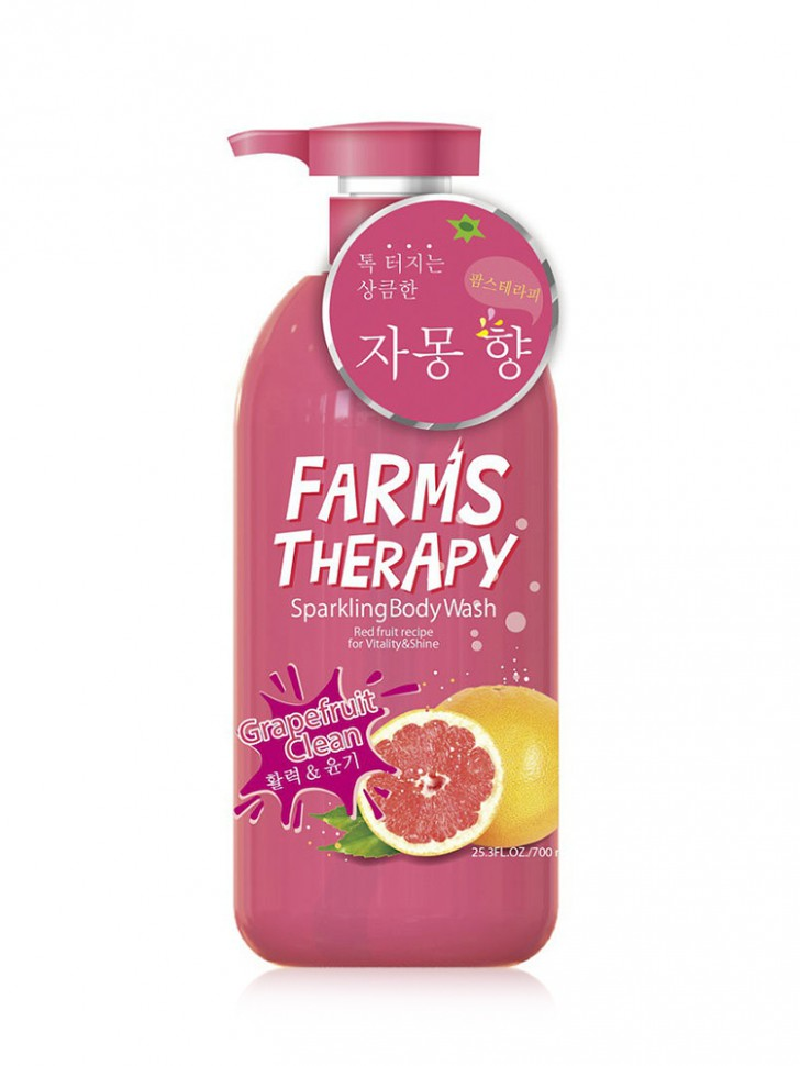 Гель для душа Farms Therapy Sparkling Body Wash Grapefruit Clean