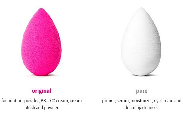 Бьюти Блендер - розовый и белый