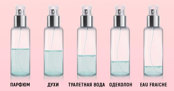чем отличается парфюм от парфюмированной воды