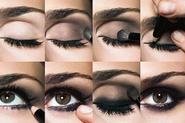 Как сделать макияж смоки айс на карих глазах