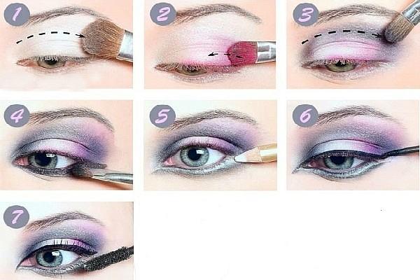 Как сделать макияж смоки айс цветные