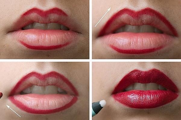 Как накрасить губы для объёма