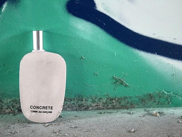 Бетонная структура флакона Concrete от Comme des Garçons Parfums