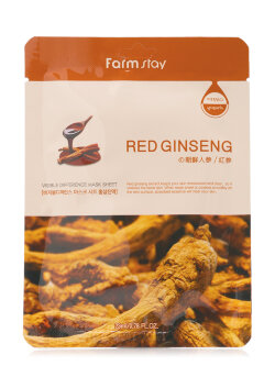 Маска для лица FarmStay Red Ginseng Visible Difference Mask Sheet