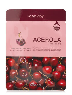 Маска для лица FarmStay Acerola Visible Difference Mask Sheet