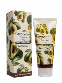 Пенка для умывания FarmStay Avocado Premium Pore Deep Cleansing Foam