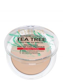Пудра Eveline Botanic Expert Tea Tree 100%  Protective Mattifying Powder