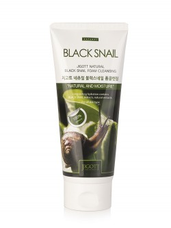 Jigott Black Snail Natural Foam Cleansing Пенка для лица