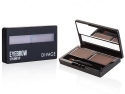 Тени для бровей Divage Eyebrow Styling Kit 2 в 1