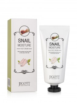 Крем для ног Jigott Snail Moisture Foot Cream