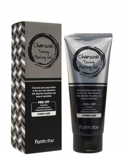 Гель для лица FarmStay Charcoal Toning Peeling Gel