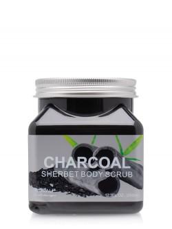 Скраб для тела Wokali Charcoal Sherbet Body Scrub