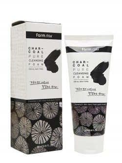 Пенка для умывания FarmStay Charcoal Pure Cleansing Foam
