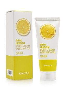Пилинг-гель для лица FarmStay Deep Clear Peeling Gel Real Lemon