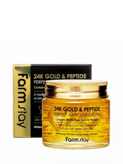 Крем для лица FarmStay 24K Gold & Peptide Perfect Ampoule Cream