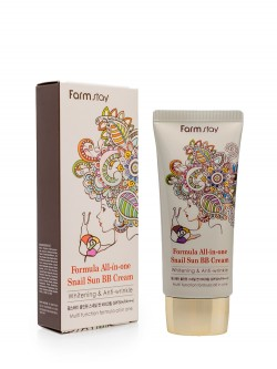 Тональный BB Крем FarmStay Formula All-In-One Snail Sun BB Cream Whitening & Anti-Wrinkle SPF50+/PA+++