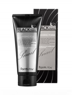 Пенка для умывания FarmStay Black Snail Deep Cleansing Foam