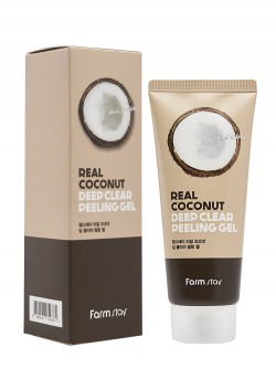 Пилинг-гель для лица FarmStay Deep Clear Peeling Gel Real Coconut