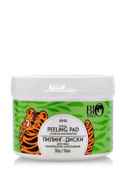 Пилинг-диски Bio World AHA Facial Peeling Pad Complex Rejuvenation