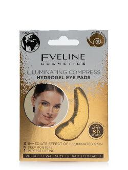Патчи для глаз Eveline Illuminating Compress Hydrogel Eye Pads 24K Gold