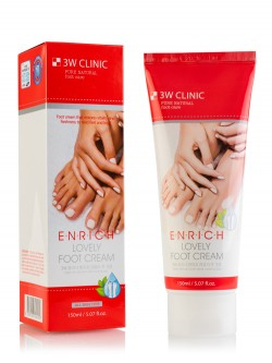 Крем для ног 3W Clinic Enrich Lovely Foot Cream
