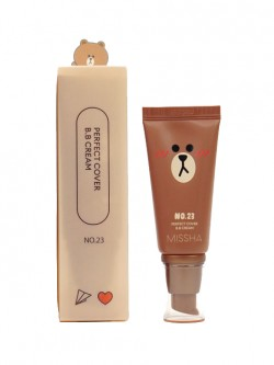 Тональный BB Крем Missha Line Friends Perfect Cover BB Cream