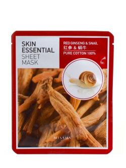 Маска для лица Missha Skin Essential Sheet Mask Ginseng & Snail