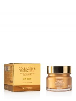 Крем для лица 3W Clinic Collagen & Luxury Gold Cream