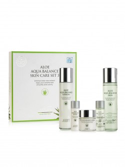 Набор Jigott Aloe Aqua Balance Skin Care 3Set