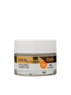 Крем для лица Delia Gold & Collagen Vitalizing Cream-Gel