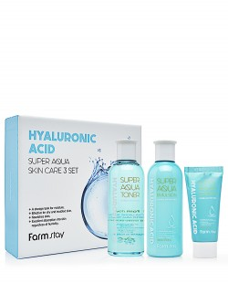 Косметический набор FarmStay Hyaluronic Acid Super Aqua Skin Care 3 Set