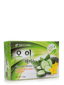 Мыло 3W Clinic Cucumber Beauty Soap
