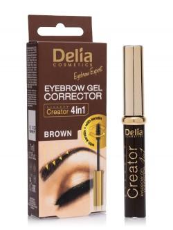Гель-корректор для бровей Delia Eyebrow Expert Eyebrow Gel Corrector 4 in 1 Brown