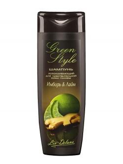 Шампунь для волос Liv Delano Green Style Имбирь & Лайм