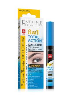 Корректор для бровей Eveline Eyebrow Therapy Total Action с хной
