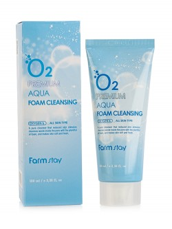 Пенка для лица FarmStay O2 Premium Aqua Cleansing Foam