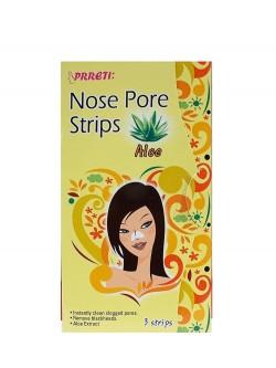 Полоски для носа Prreti Nose Pore Strips Aloe