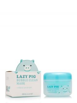 Маска для лица Bingju Lazy Pig Bubble Clean Mask