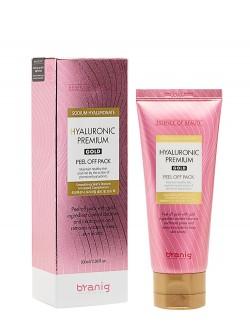 Маска-пленка для лица Branig Hyaluronic Premium Gold Peel Off Pack