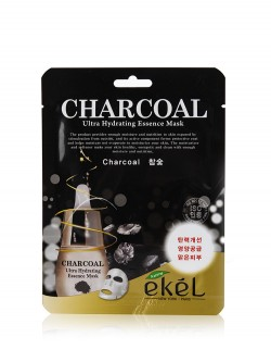 Маска для лица Ekel Charcoal Ultra Hydrating Essence Mask