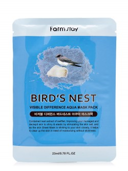 Маска для лица Farm Stay Bird`s Nest Visible Difference Aqua Mask Pack