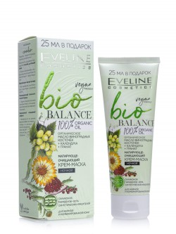 Крем-маска для лица ночной Eveline Vegan Friendly Bio Balance