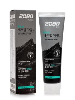 Зубная паста Aekyung Dental Clinic 2080 Pure Black Clean Charcoal
