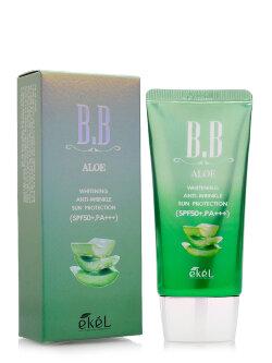 Тональный BB Крем Ekel BB Aloe Whitening & Anti-Wrinkle Sun Protection SPF50+ PA+++