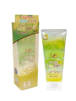 Скраб-пенка для лица 3W Clinic Pure Clean Snail Scrub Foam Cleansing