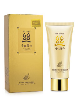 Пенка для лица Bioaqua Silk Protein Aqua Shiny Cleanser