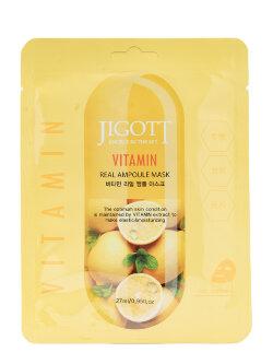 Маска для лица Jigott Real Ampoule Mask Vitamin